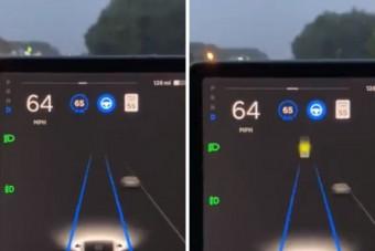 Közlekedési lámpának látta a Holdat egy Autopilot módban haladó Tesla