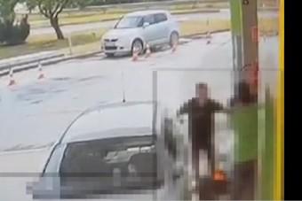 Őrjöngött egy hazai benzinkúton, a táskáját is felgyújtotta