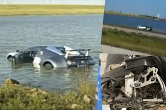 Kap egy második esélyt az a Bugatti, amivel belehajtottak egy tóba