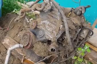 Egy évig volt föld alatt ez a dízelmotor, megpróbálják beindítani