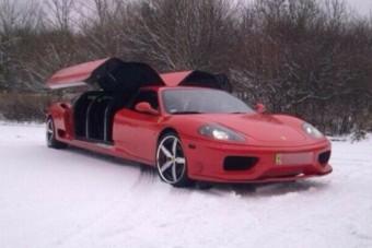 A limuzinná alakított Ferrari garantáltan megragadja a figyelmet