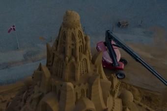 Rekordmagas homokvárat építettek