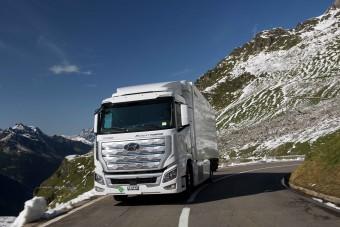 Egymilliónál járnak a Hyundai üzemanyagcellás teherautói