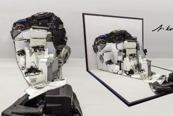 Így lesz elektronikai hulladékból varázslatos portré