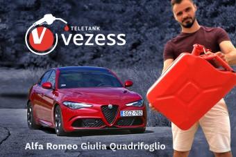 Élménydús fogyasztó - Giulia Quadrifoglio a Teletankban!
