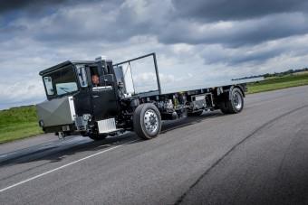 Fura teherautót tesztelnek Nagy-Britanniában