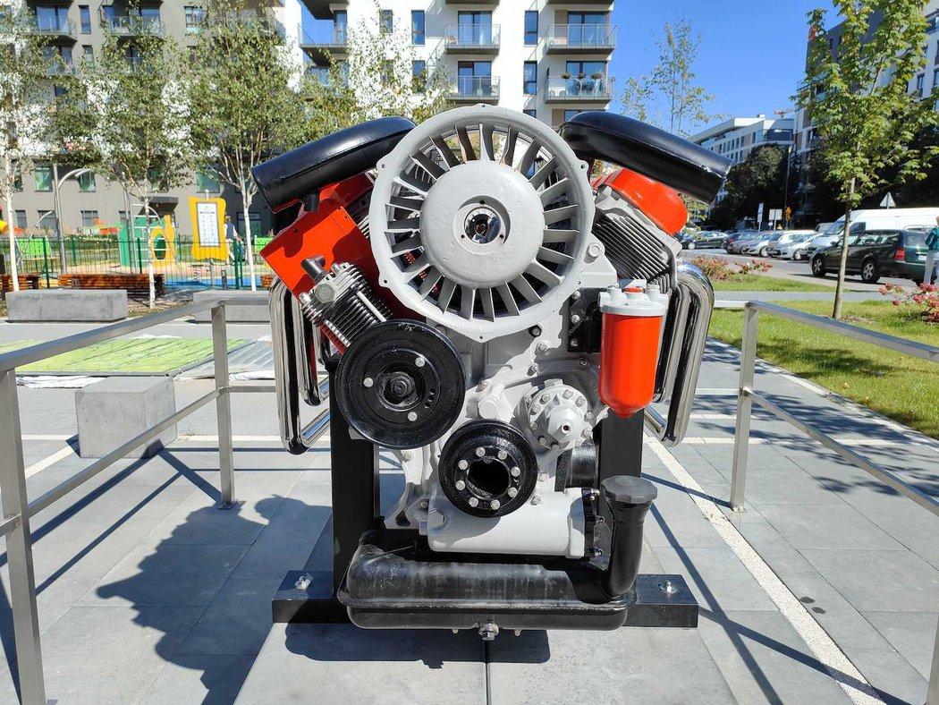 Dízelmotornak állítottak emlékművet Lengyelországban 2