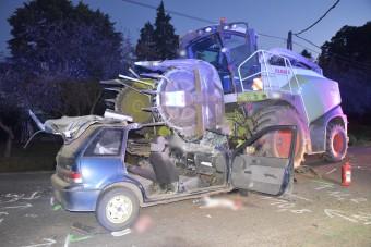 Silozógép és Suzuki ütközött Pácsonyban, az eredmény pont olyan súlyos, mint gondolod
