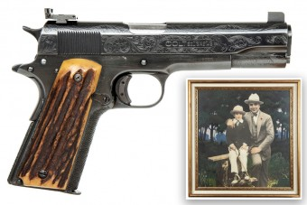 Eladó a leghíresebb amerikai gengszter pisztolya