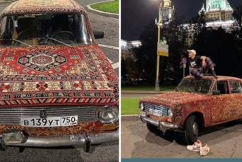 Egy orosz srác valódi varázsszőnyeget fabrikált az öreg Zsiguliból