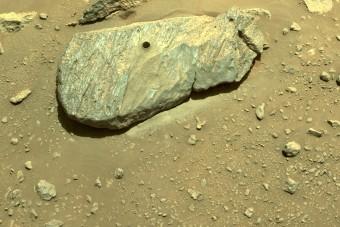 Megvan az új NASA-marsjáró első kőzetmintája
