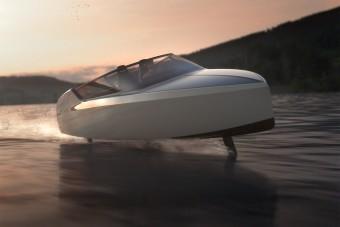 Ez a futurisztikus csónak akár 70 km/órával is repülhet a víz felett