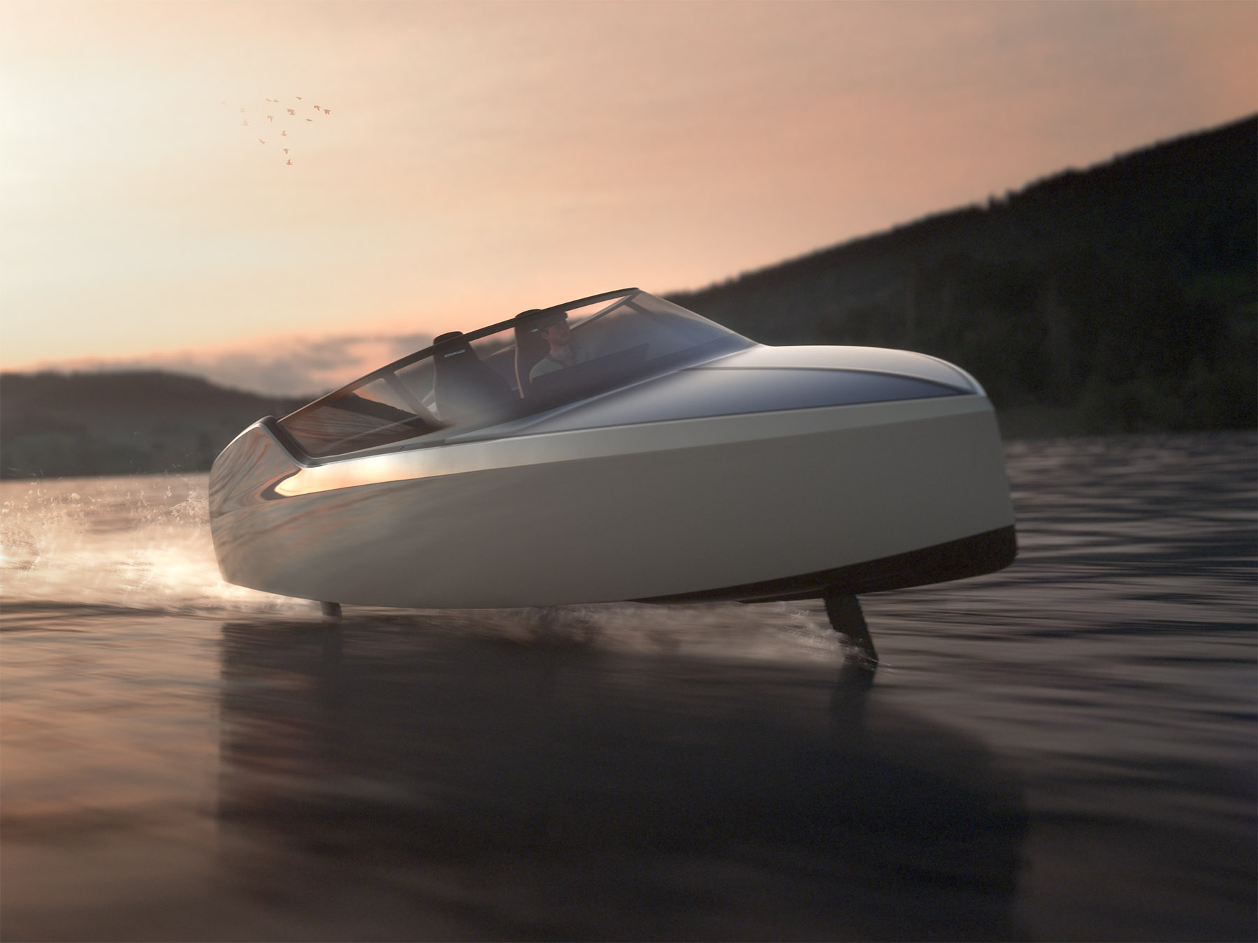 Ez a futurisztikus csónak akár 70 km/órával is repülhet a víz felett 2