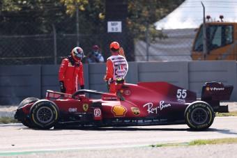 F1: Csúnya Ferrari-baleset Monzában