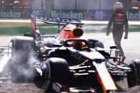 F1: Drámai videón a Hamilton fejét eltaláló Red Bull 1