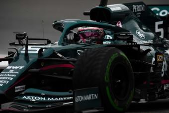 F1: Vettel csapattársával ütközött, feszültség az Astonnál