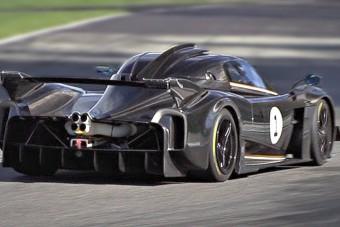 A Pagani új V12-esének üvöltése közkincs, így kellene szóljon minden értelmes versenyautó!