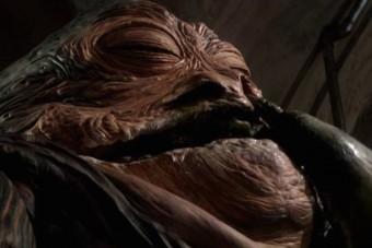 Jabba belében több bábmester dolgozott a tökéletes illúzión