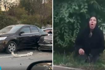 Összetört öt autót, majd transzba esve vonaglott az aszfalton a sofőr
