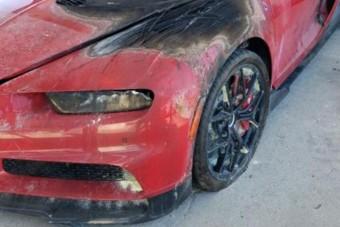 Ennyi pénzért szinte ajándék ez a megégett Bugatti Chiron