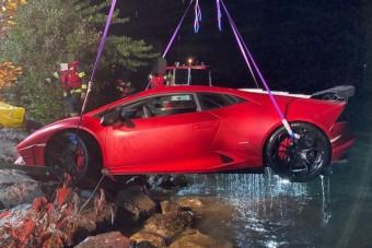 Tóba repítettek egy Lamborghinit Ausztriában