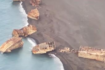 Kitörő vulkán hozta felszínre az elsüllyedt hajókat