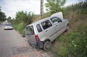 A nap képe - Partfalnak csapódott egy Suzuki